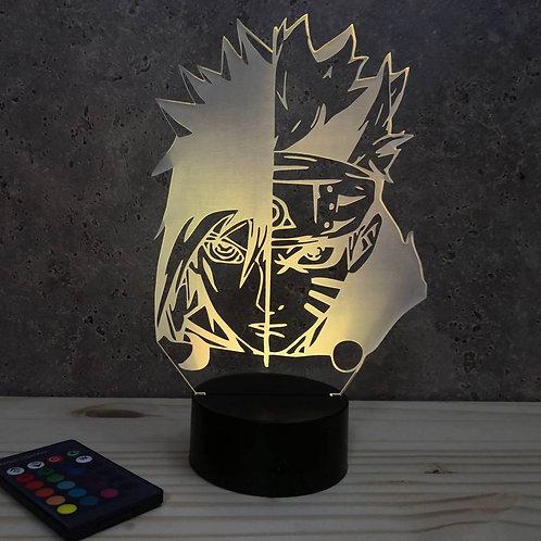 Lampe illusion Manga Naru 1 personnalisable 16 couleurs led RGB & télécommande