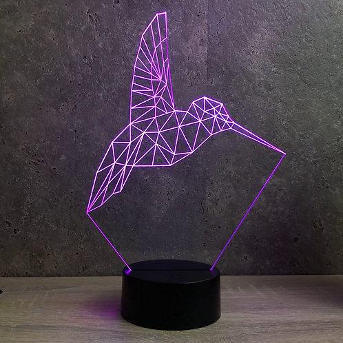 Lampe illusion 3d led Colibri