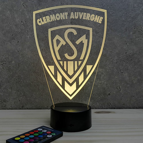 Lampe illusion 3d led rugby clermont auvergne ASM