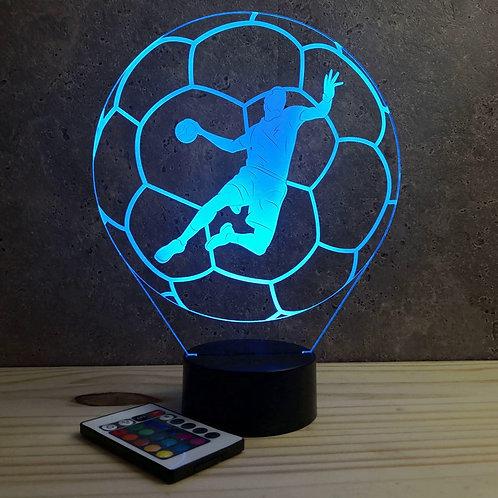Lampe illusion HandBall personnalisable 16 couleurs led RGB & télécommande
