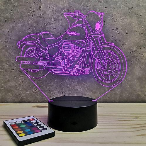 Lampe illusion 3D Harley Davidson personnalisable 16 couleurs & télécommande