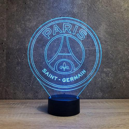 Lampe illusion Foot Paris personnalisable 16 couleurs led RGB & télécommande