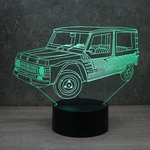 Lampe illusion 3d led Citroën Méhari
