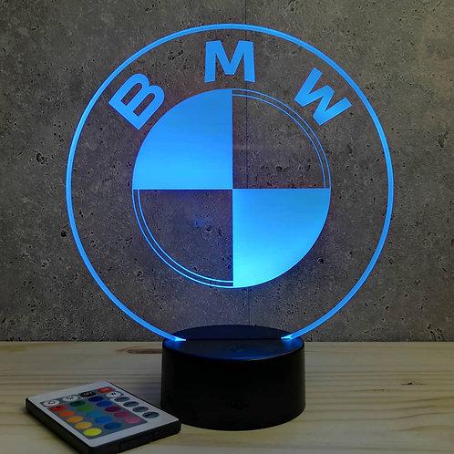Lampe illusion Emblème BMW personnalisable 16 couleurs & télécommande