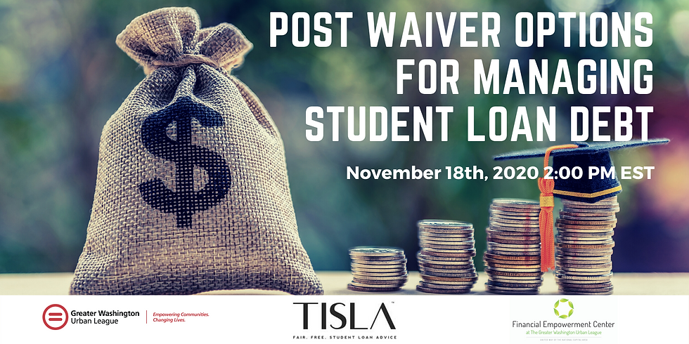 Post Waiver Options for Managing Student Loan Debt