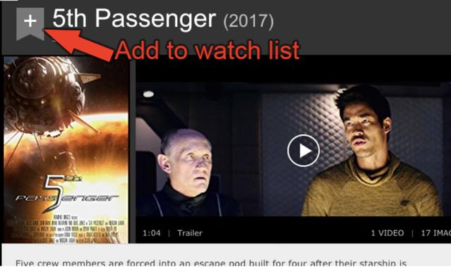 5th Passenger IMDb page