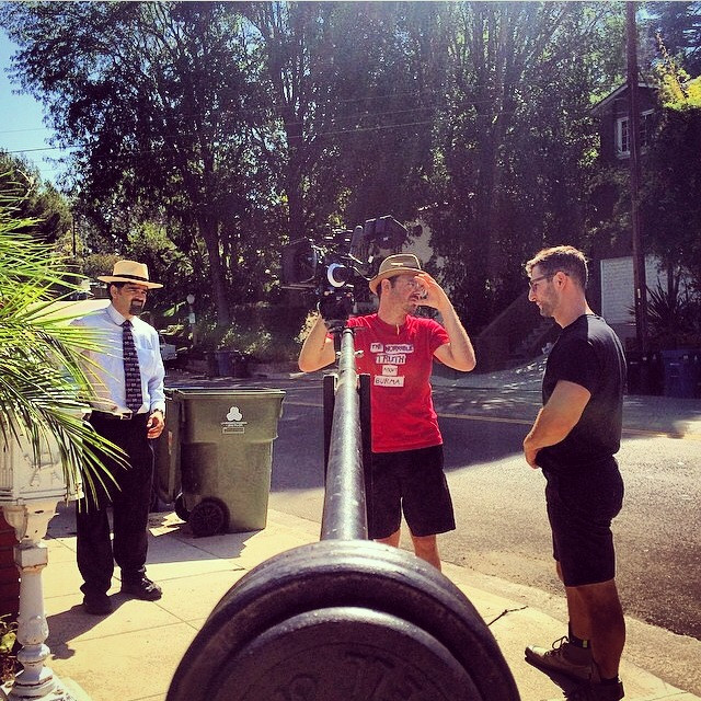 Director Arnon Shorr, Me, and AC Nick on the jib
