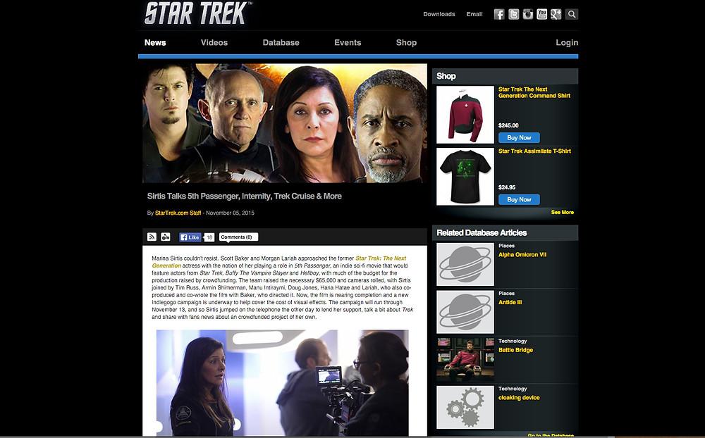 StarTrek.com Article Marina Sirtis
