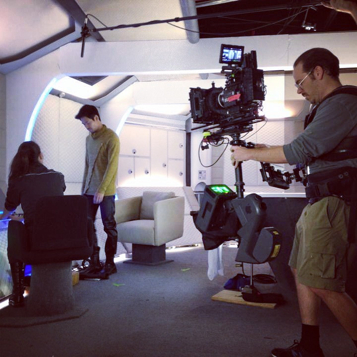 We're getting some great steadicam shots on our beautiful sets