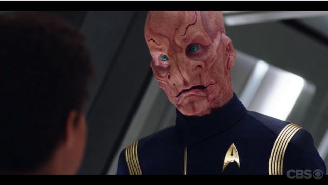 Doug Jones as Lt. Saru in Star Trek: Discovery