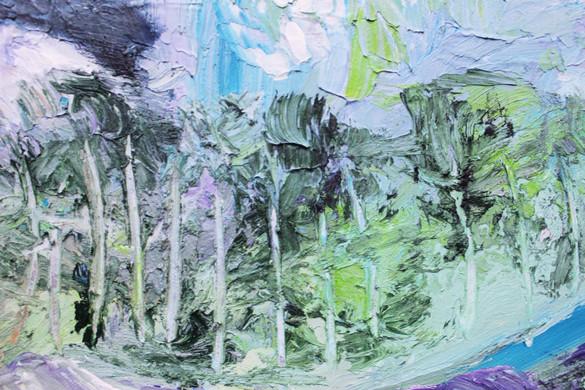 Monet Mountains Close Up 4