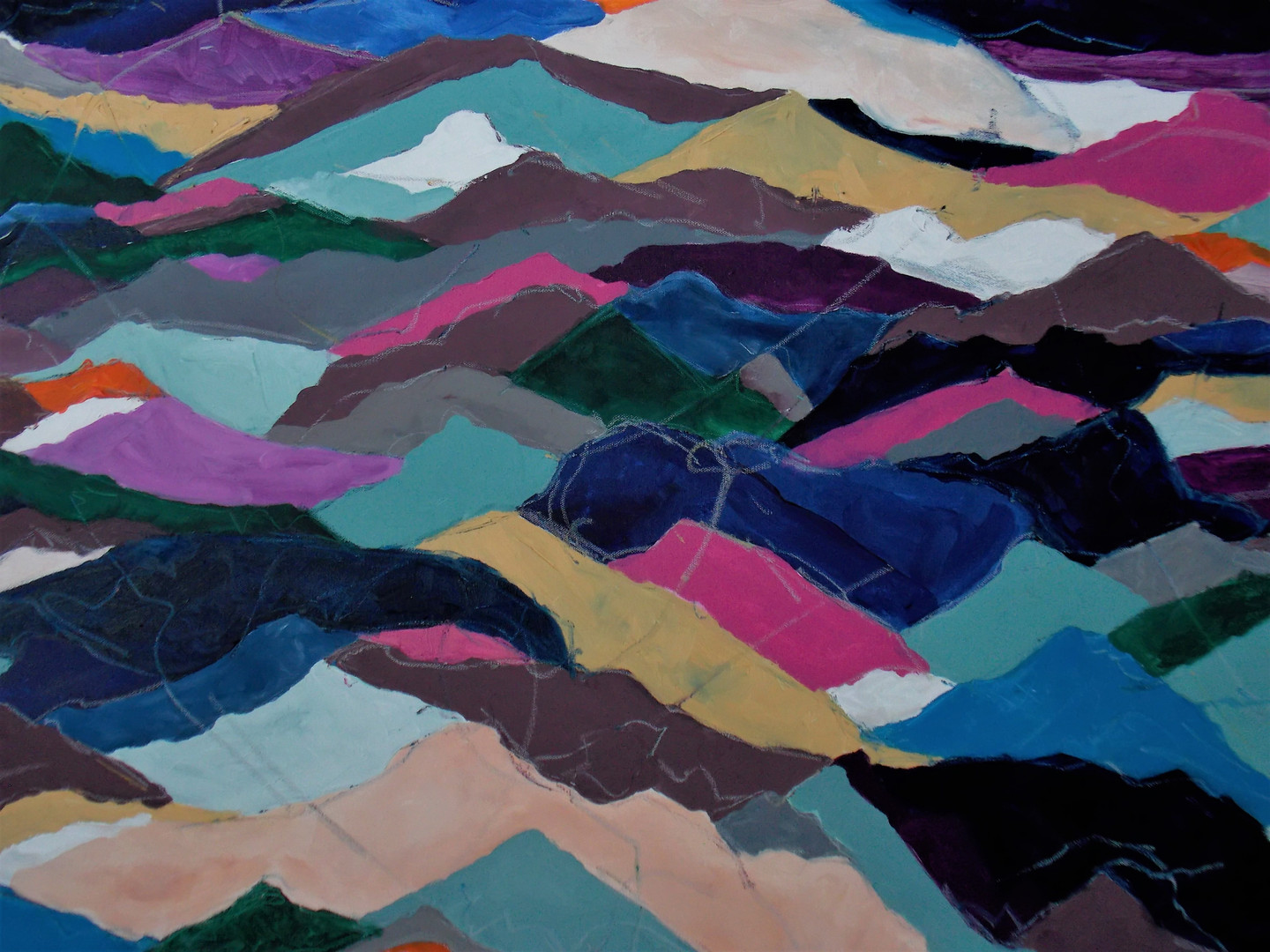 Colored Mountains Close Up 2