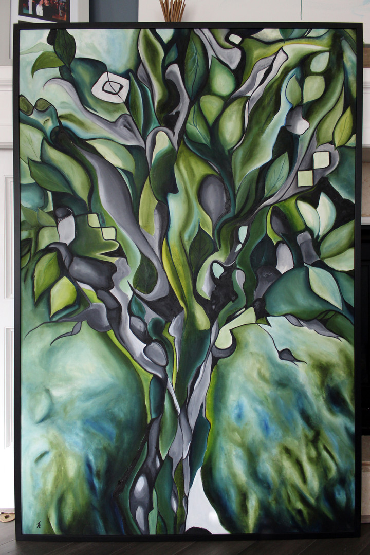 Green Tree Framed