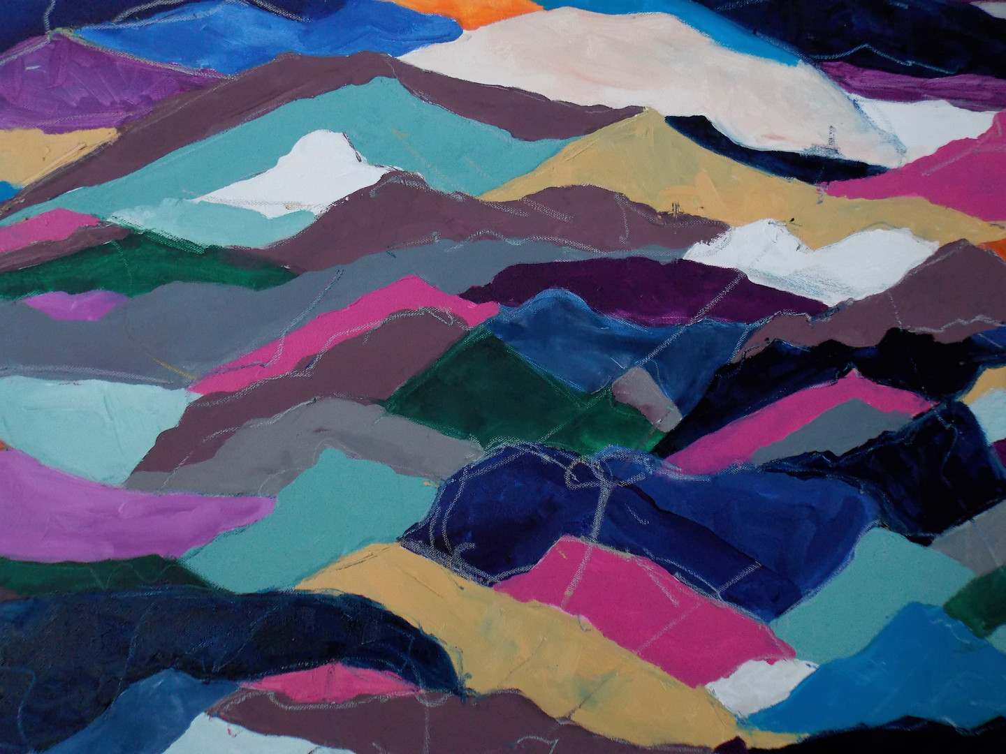 Colored Mountains Close Up 1