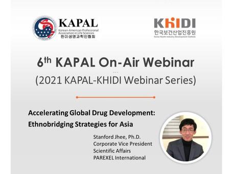 2021 KHIDI-KAPAL Bio & Health Webinar Series #1