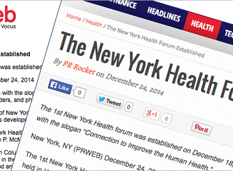 The New York Health Forum Established