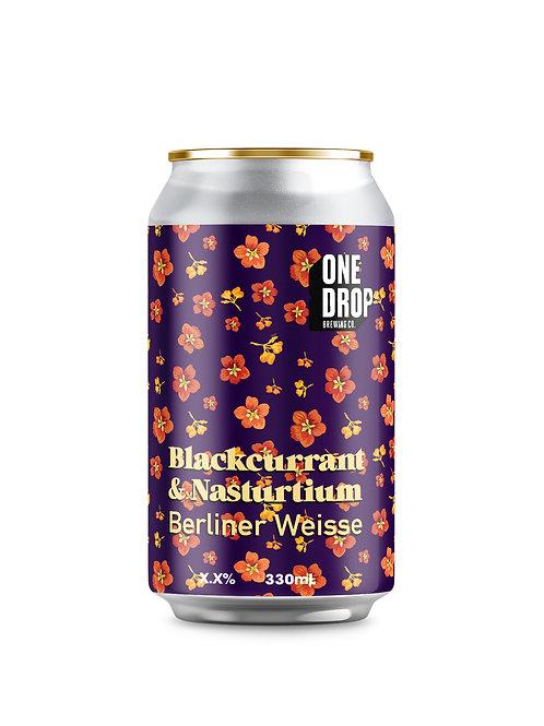 Blackcurrant & Nasturtium Berliner Weisse // 4 Pack