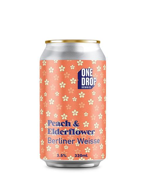 Peach & Elderflower Berliner Weisse // 4 Pack