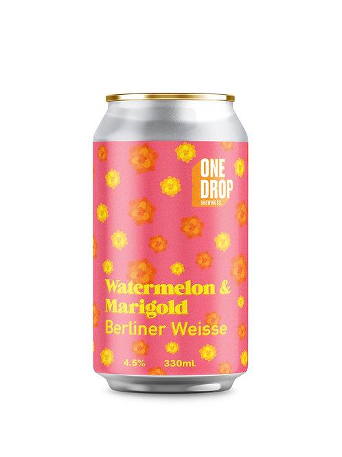 Watermelon & Marigold Berliner Weisse // 4 Pack
