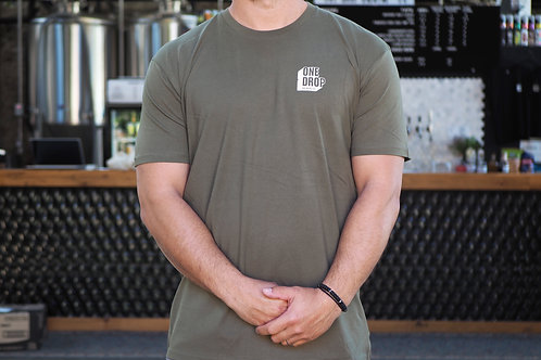 Mens Army Green Tshirt