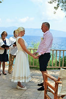 Katy & Paul's ceremony in Sami Kefalonia