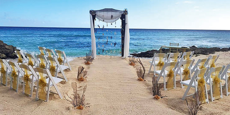 Beach wedding in Kefalonia