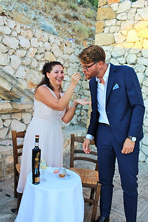 Couple getting married in Kefalonia