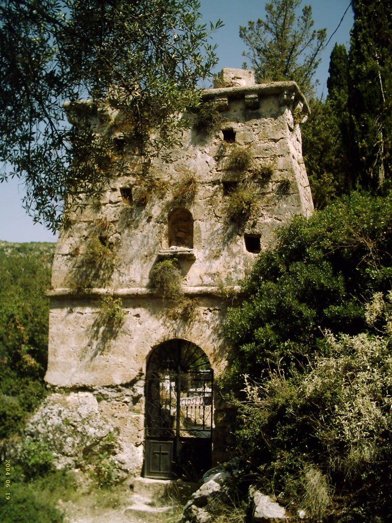 old skala medieval church tower