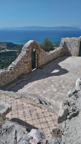 Old Skala Church and sea view