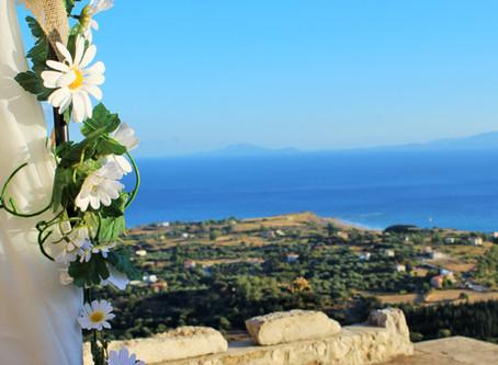 An elopement wedding in Kefalonia....