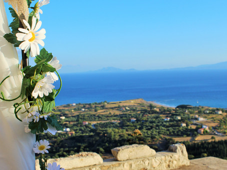 An elopement wedding in Kefalonia....