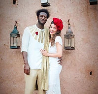 Ellie andMarlon's weddng in Morocco