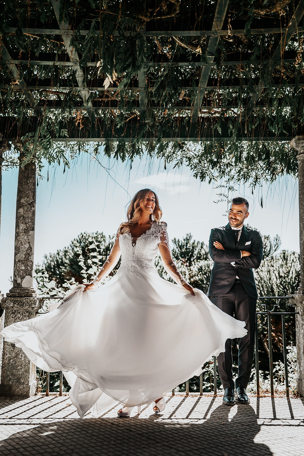 Bride and Groom in Greece