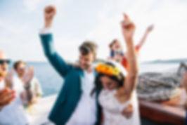 Personal wedding on a boat in Croatia