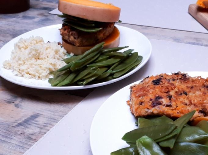DIY huisgemaakte vegan burger