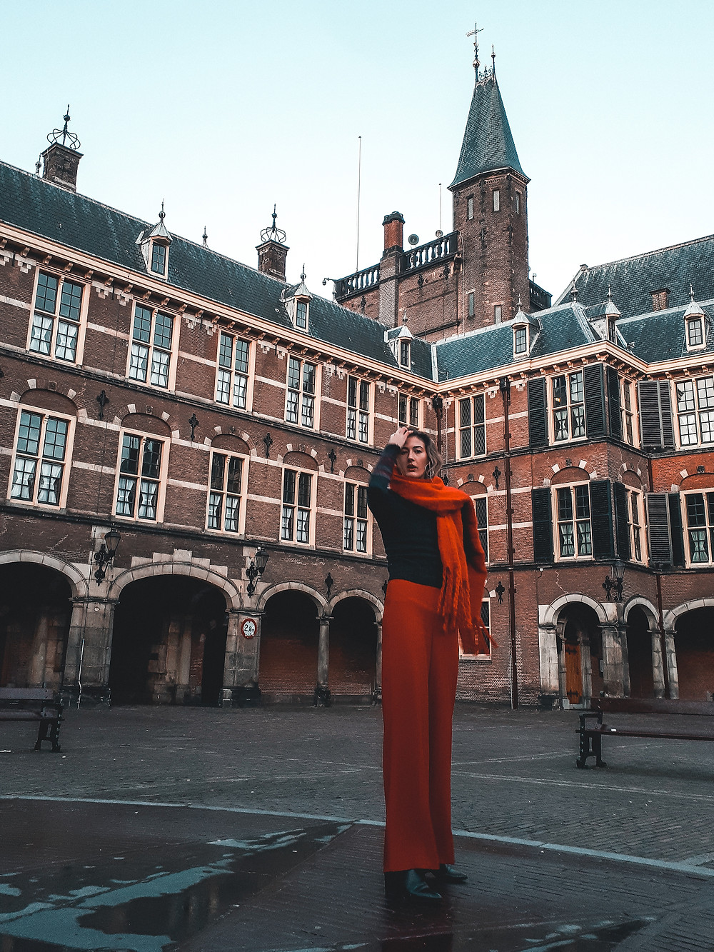 The Inner Court (Binnenhof) The Hague on an early morning