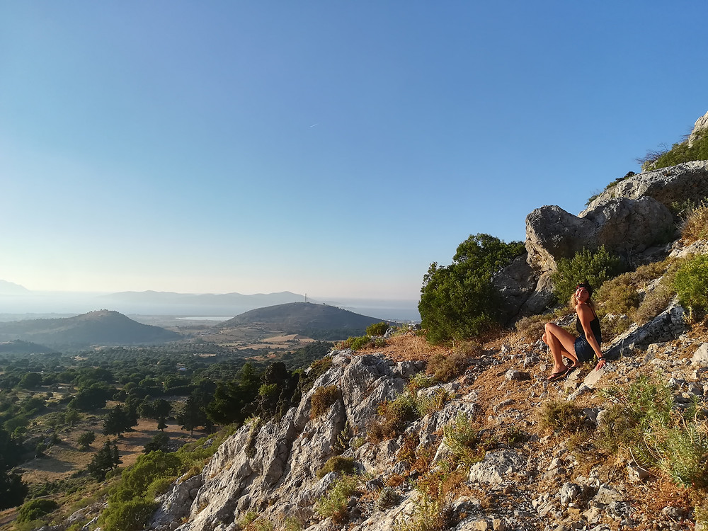Amazing views during a hike to Paleo Pyli
