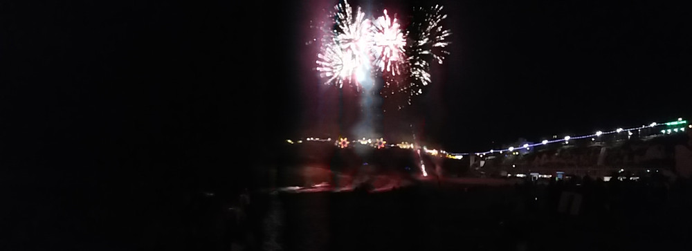Vuurwerk in Broadstairs, Eng 2016