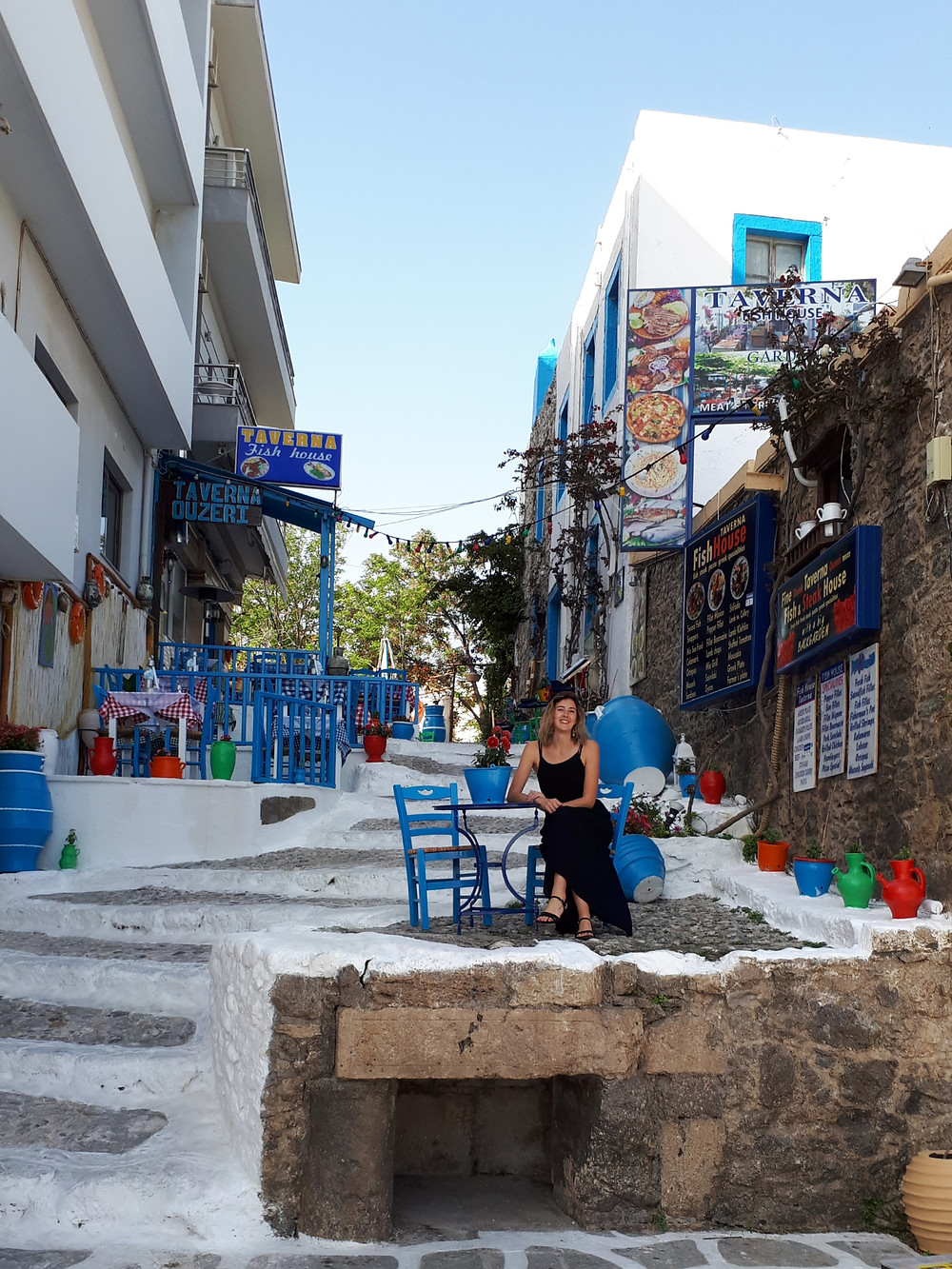 Me in one of the cutest streets of Kos