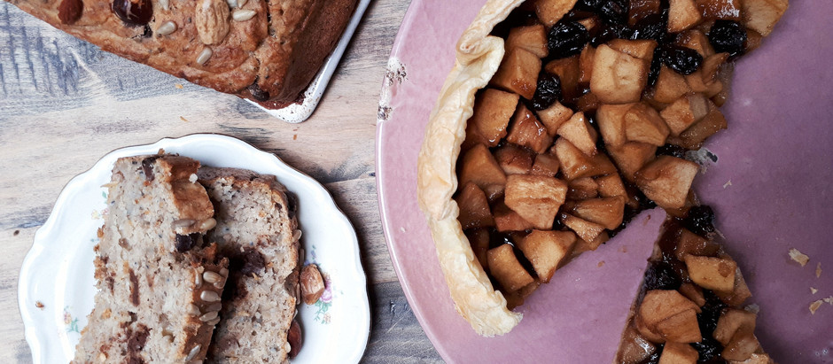 Bananabread and applepie (vegan)