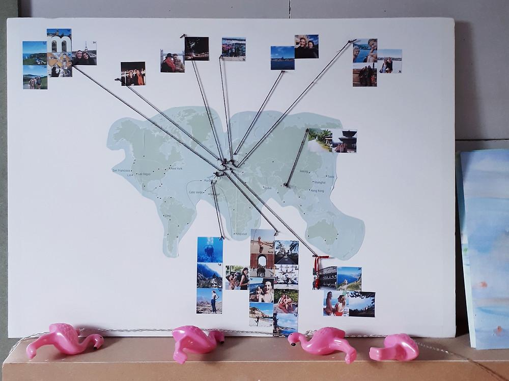 Prikbord voor reisherinneringen