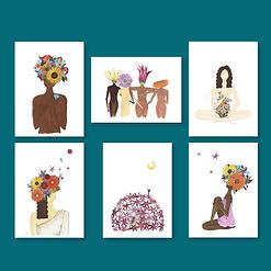 Watch me bloom set (6 postcards)