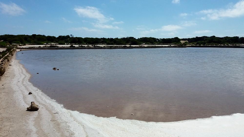 De zoutmeren op Formentera.
