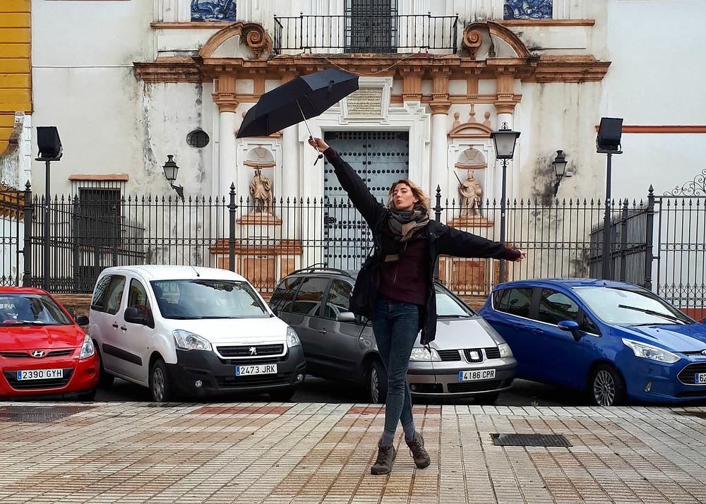 Klaar voor de regenval en sporadische zon in Sevilla
