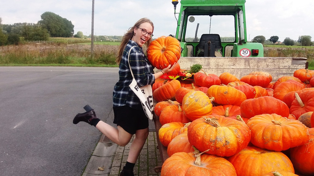 Hanna loves pumpkins!