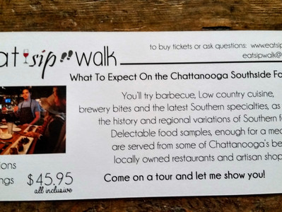 This Friday & Saturday Food Taste Walk Southside Chatt- Space is limited!