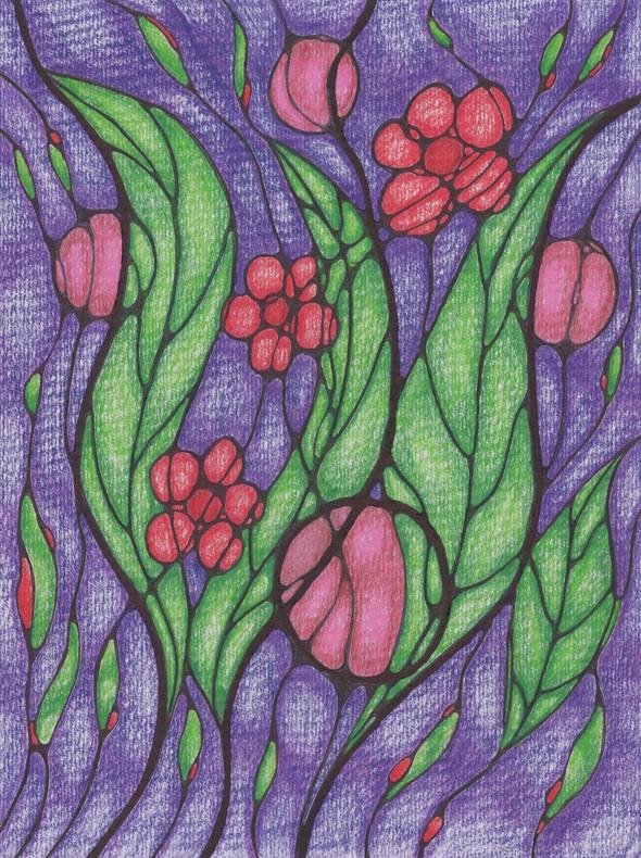 Night Flowering | Colorpencil