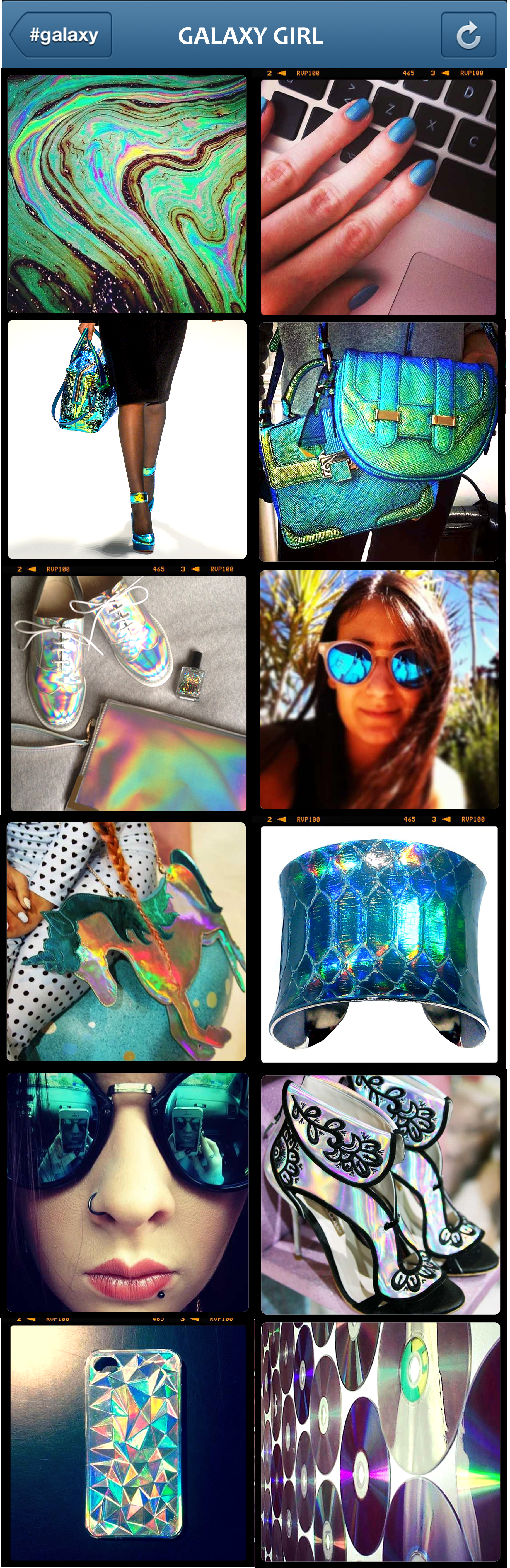 Galaxy Girl Hologram Trend