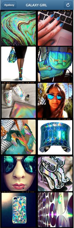 Galaxy Girl Hologram Trend