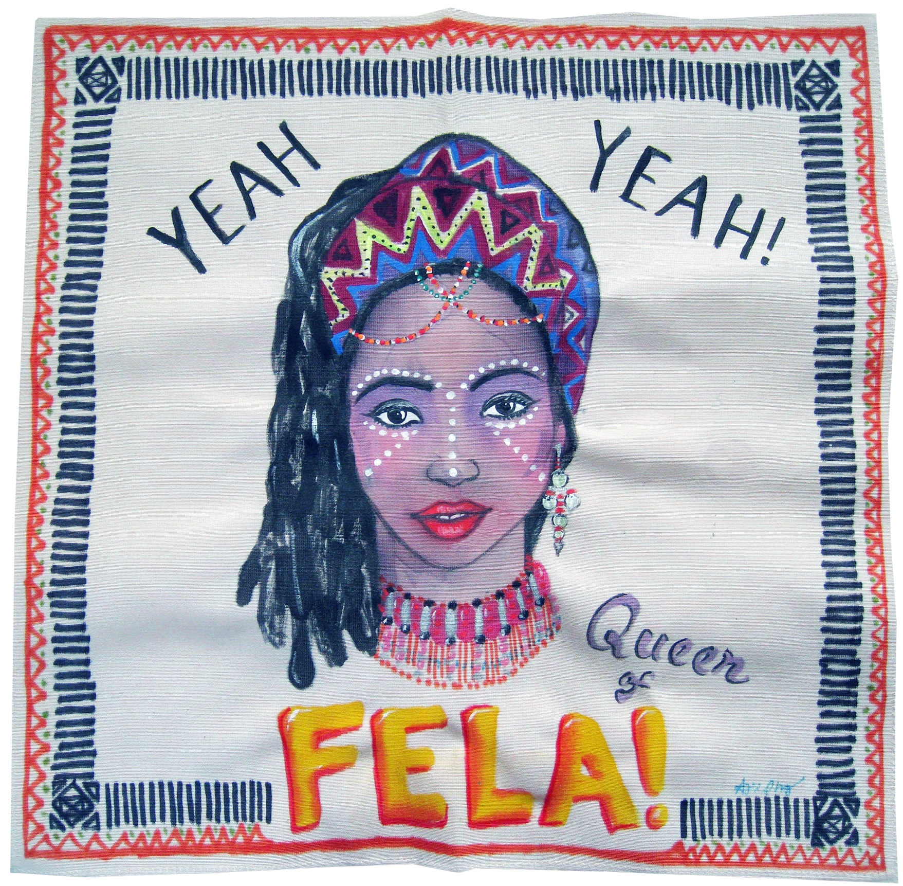 Painting on Silk - Fela Queen 3